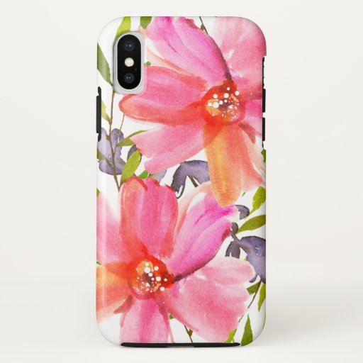 Pretty Pastel Watercolor iPhone XS Case