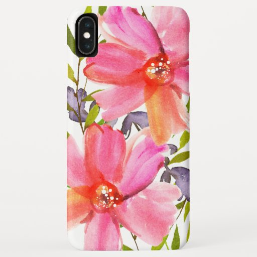 Pretty Pastel Watercolor iPhone XS Max Case