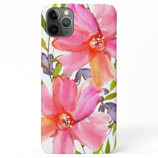 Pretty Pastel Watercolor iPhone 11 Pro Max Case