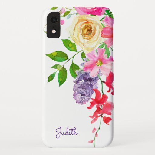 Pretty Pastel Watercolor iPhone XR Case