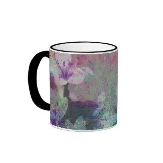 Pretty Pastel Watercolor Cherry Blossom Ringer Mug