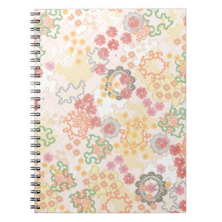 Pretty Pastel Watercolor Flowers Pattern Spiral Notebook