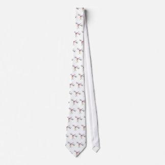 pretty pasteldragonfly and flower tie
