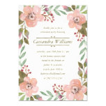 Pretty Pastels | Floral Wreath Retirement Party 5x7 Paper Invitation Card
