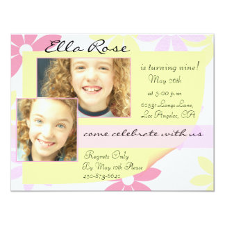 """Pretty Pastels 4.25"""" X 5.5"""" Invitation Card"""