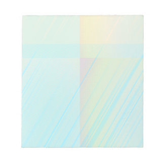 Pretty Pastels - Pale Blue Yellow Pink Notepad