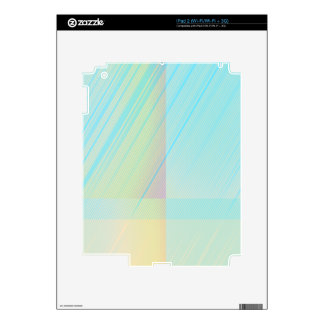 Pretty Pastels - Pale Colored Abstract Decal For iPad 2
