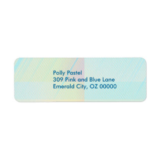 Pretty Pastels - Pale Colored Abstract Label