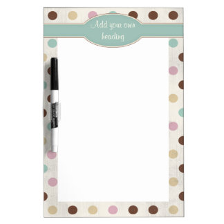 Pretty Pastels Polka Dot Pattern Dry-Erase Board