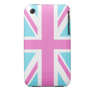 Pretty Pastels Union Flag iPhone 3 Case