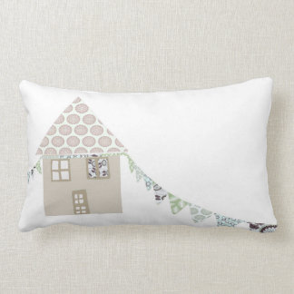 Pretty Patch work house Lumbar Pillow