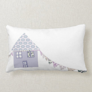 Pretty Patch work house Throw Pillows