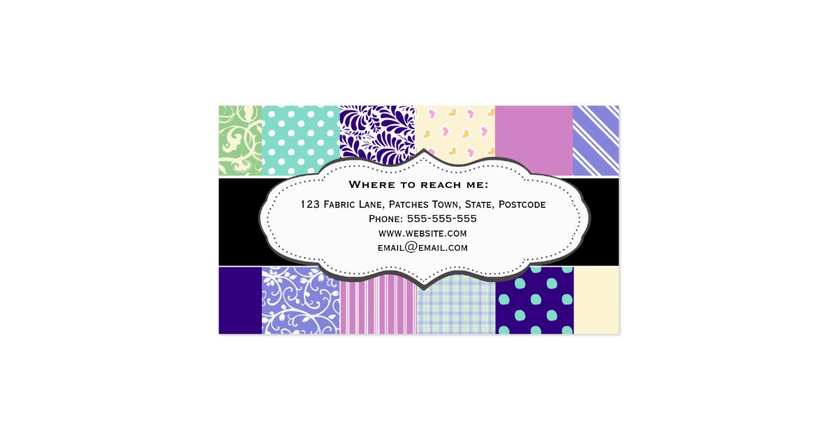 pretty patchwork quilt business cards zazzle. Black Bedroom Furniture Sets. Home Design Ideas