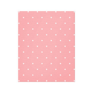 Pretty Pattern Gift Pink Polka Dot Canvas Print