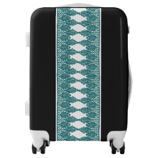 Pretty Pattern Lacy Teal Blue Luggage