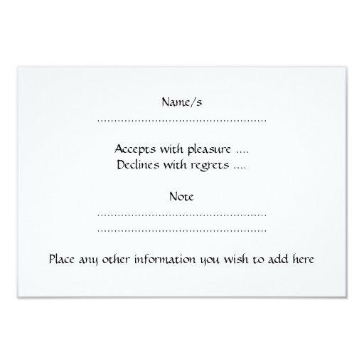 Pretty Pattern on a White Background. 3.5x5 Paper Invitation Card