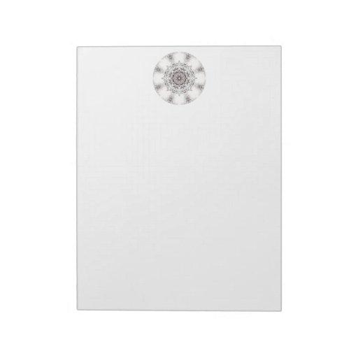 Pretty Pattern on a White Background. Scratch Pads