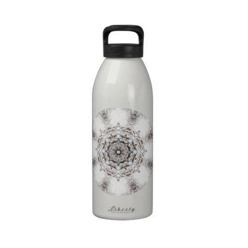 Pretty Pattern on a White Background. Drinking Bottles