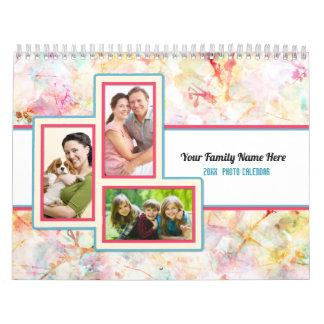 Pretty Patterns Custom 2018 Photo Calendar