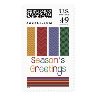 Pretty Patterns Season's Greetings Holiday Postage