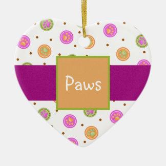 Pretty Paw Prints Ceramic Ornament