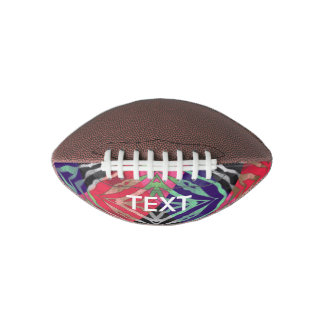 Pretty Paws Zebra Florescent Abstract Football