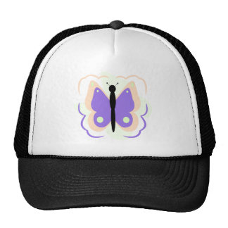 Pretty Peach And Purple Butterfly Hat