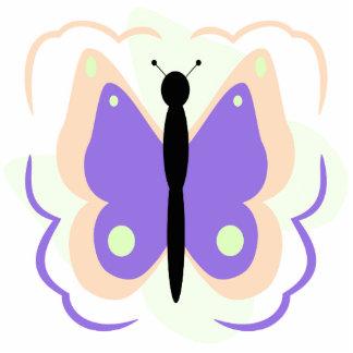Pretty Peach And Purple Butterfly Ornament