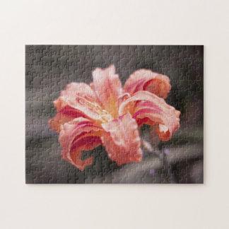 Pretty Peach Flower Jigsaw Puzzle