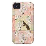 Pretty Peach Patchwork iPhone 4 Case-Mate Cases