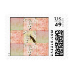 Pretty Peach Patchwork Stamps