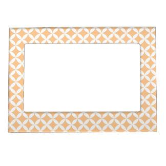 Pretty Peach Pattern Magnetic Photo Frame