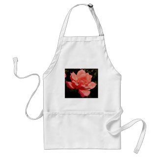 Pretty Peach Pink Rose floral Adult Apron