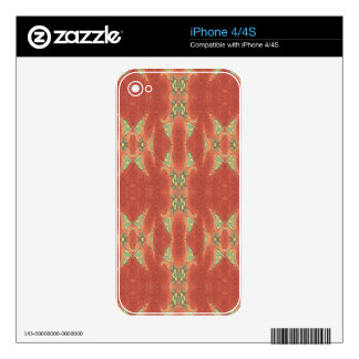 Pretty Peach Tribal Pattern. Decals For iPhone 4