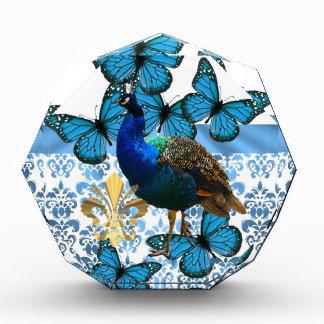 Pretty Peacock and blue butterflies Award