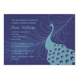 Pretty Peacock Bridal Shower Invitation