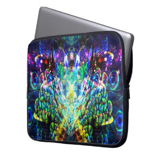 Pretty Peacock Feather Abstract Design Laptop Case Laptop Computer Sleeve