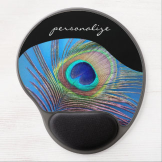 Pretty Peacock Feather Gel Mouse Pad