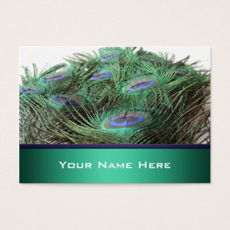 Pretty Peacock Feathers Business Cards