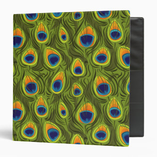 Pretty Peacock Feathers Pattern Binder