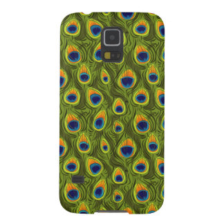 Pretty Peacock Feathers Pattern Case For Galaxy S5