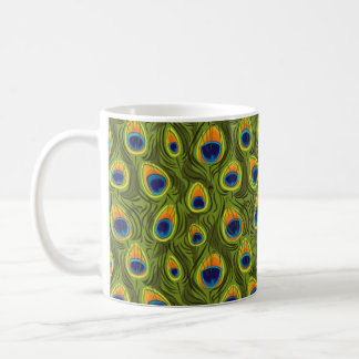Pretty Peacock Feathers Pattern Coffee Mug