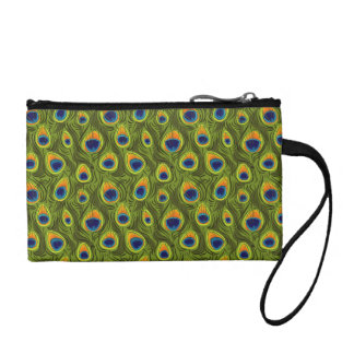 Pretty Peacock Feathers Pattern Coin Purse