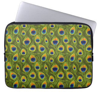 Pretty Peacock Feathers Pattern Computer Sleeve