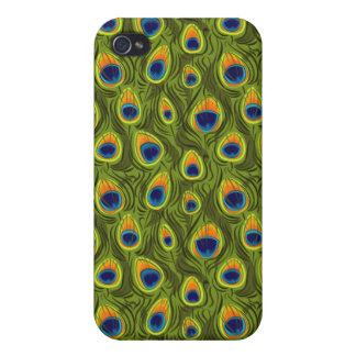 Pretty Peacock Feathers Pattern iPhone 4 Case