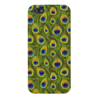 Pretty Peacock Feathers Pattern iPhone SE/5/5s Cover
