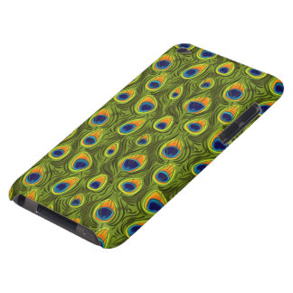Pretty Peacock Feathers Pattern iPod Touch Case