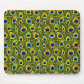 Pretty Peacock Feathers Pattern Mouse Pad