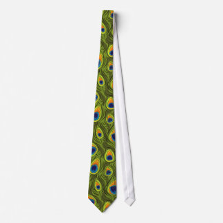 Pretty Peacock Feathers Pattern Neck Tie