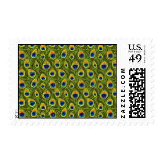 Pretty Peacock Feathers Pattern Postage